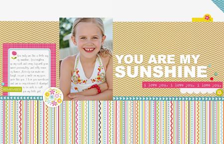 Sheri Reguly - You Are My Sunshine - Layout