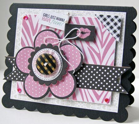 Gretchen McElveen_Shaped card_Girls just wanna have fun card