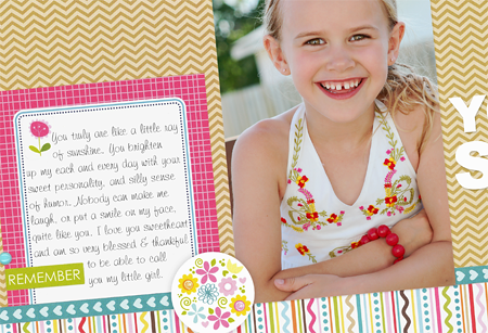 Sheri Reguly - You Are My Sunshine - Layout - detail 1