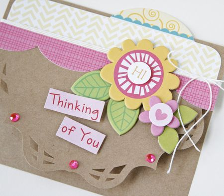 Gretchen McElveen_Shaped card_Thinking of You card close up