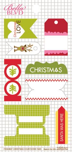 687 CHRISTMAS COUNTDOWN TABS
