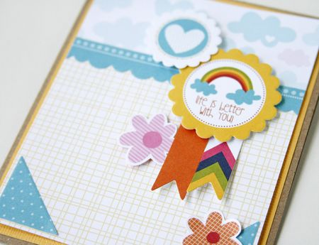 Gretchen McElveen_6 embellishments challenge_Life is Better with You close up