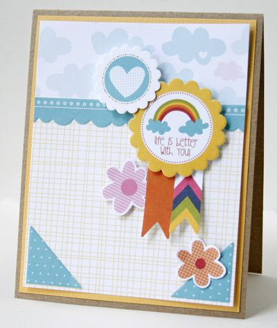 Gretchen McElveen_ 6 embellishement challenge_Life is Better with You card