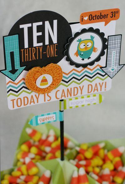 Patti Milazzo-Halloween Candy Centerpiece_Detail 1