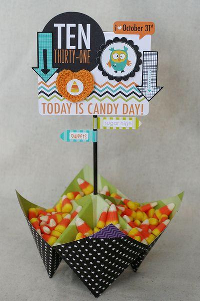 Patti Milazzo-Halloween Candy Centerpiece