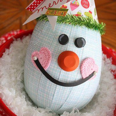 Shellye McDaniel-Snowy Man Ornament4