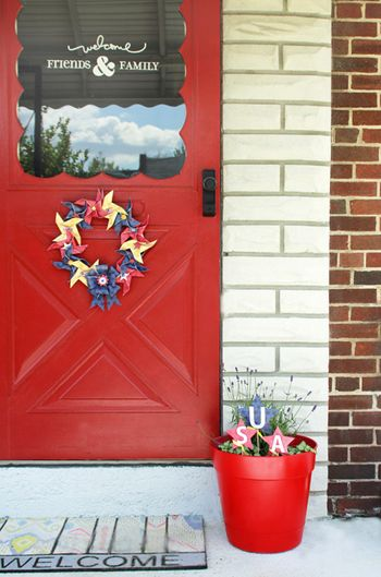 Jen Chesnick- Patriotic Wreath- Bella Blvd- Full Door