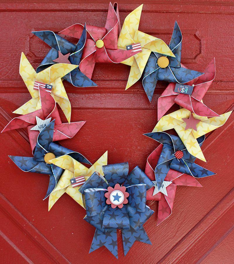 Jen Chesnick- Patriotic Wreath- Bella Blvd