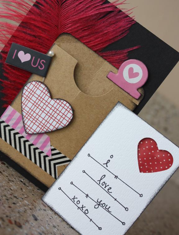 Morgan bandkowski I Love Us Card detail