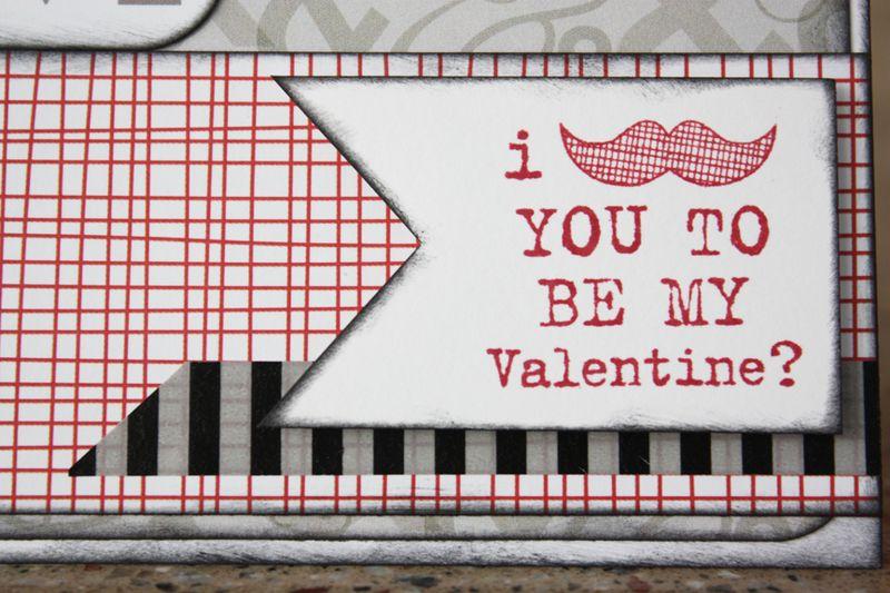 Morgan bandkowski Be My Valentine Card Detail