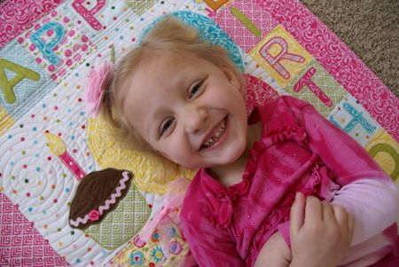 Kathy Frye Birthday Wishes close up 4 yr old