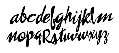 Brush script alpha