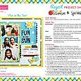 Scattered Sprinkles & Summer Squeeze Project Sheet 2014