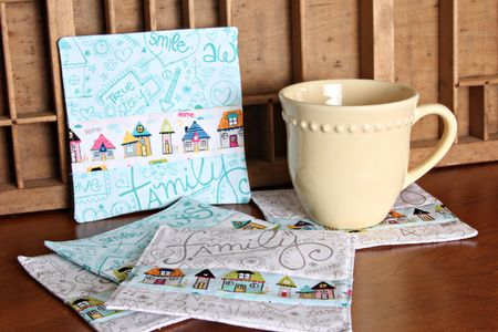 ChristineOusley_FabricCoasters