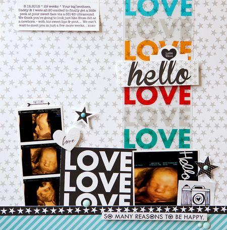 Susan weinroth - hello love layout