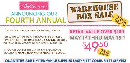 WAREHOUSE BOX SALE 2015