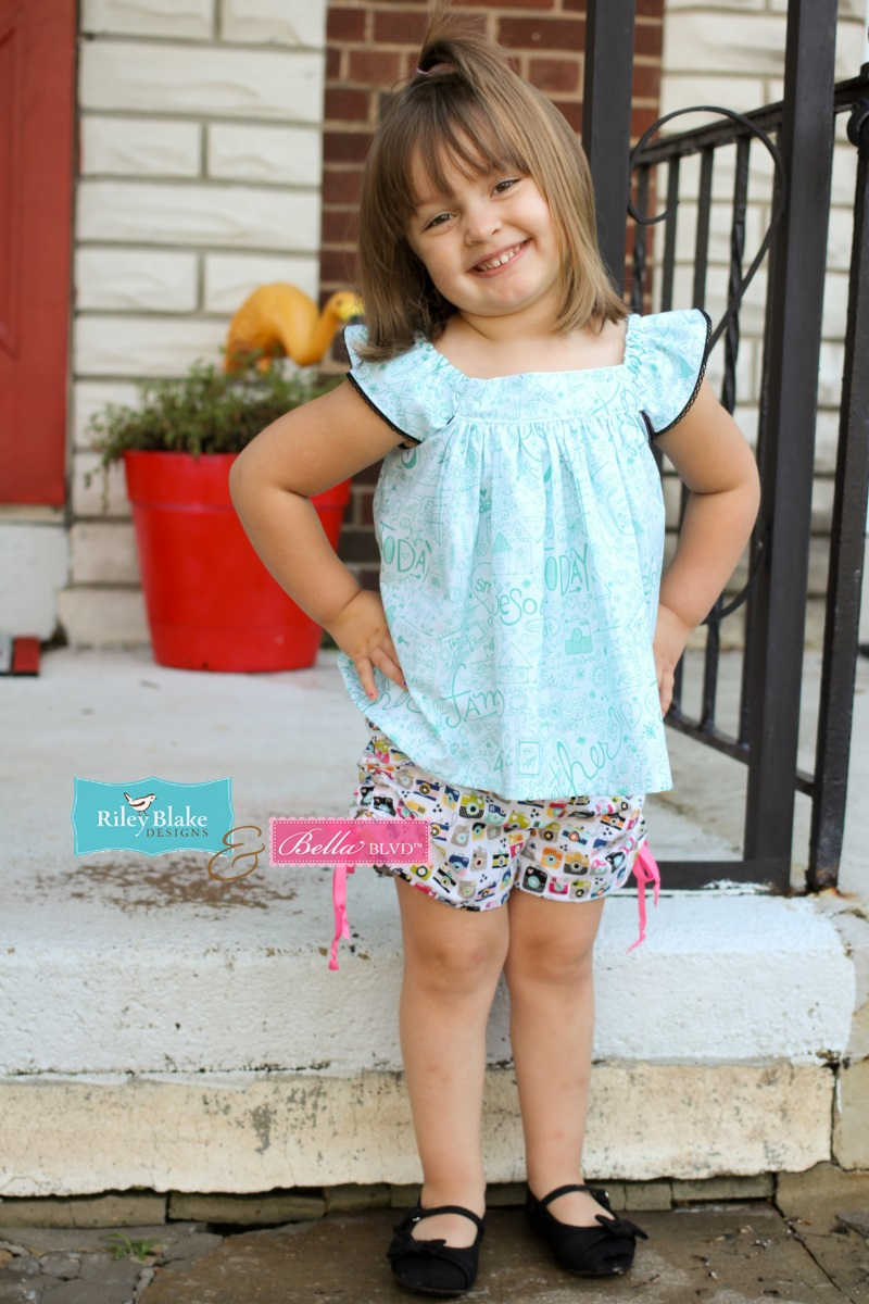 Jen Chesnick- Bella Blvd- Too Cute Shorts and Fly Girl Top3