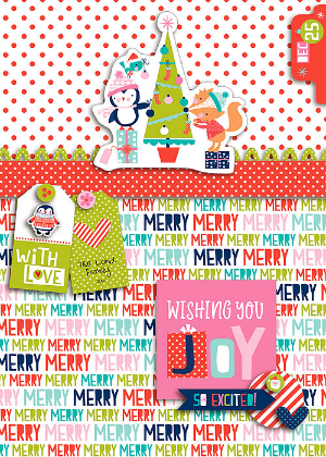 Krista Lund Holly Jolly card
