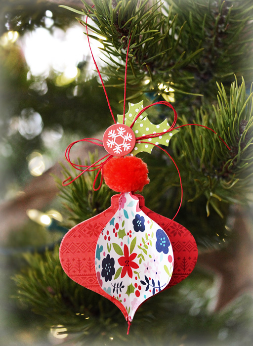 Holly Jolly Ornament by Laurie Schmidlin