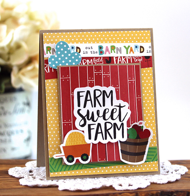 Farm Sweet Farm Card by Laurie Schmidlin