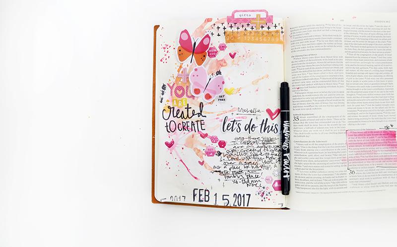 Interleaved bible journaling 1