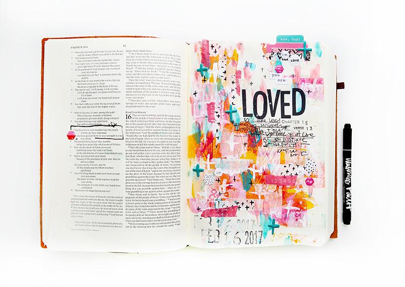 Interleaved bible journaling 3