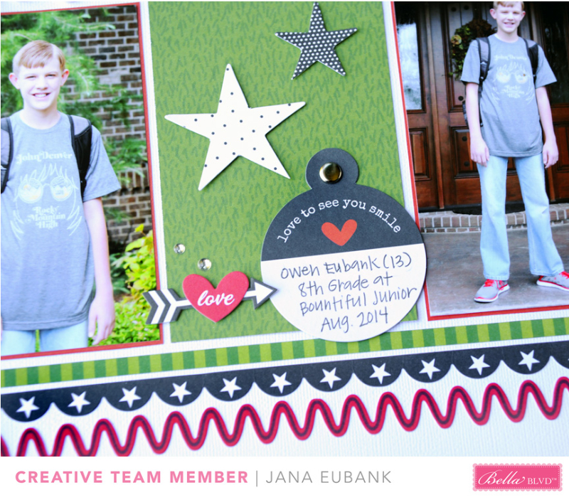 Jana Eubank Bella Blvd New School Year Scrapbook Page 4