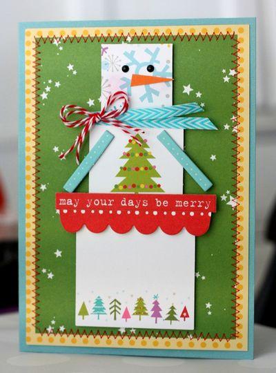Shellye McDaniel-Square Snowman Card1
