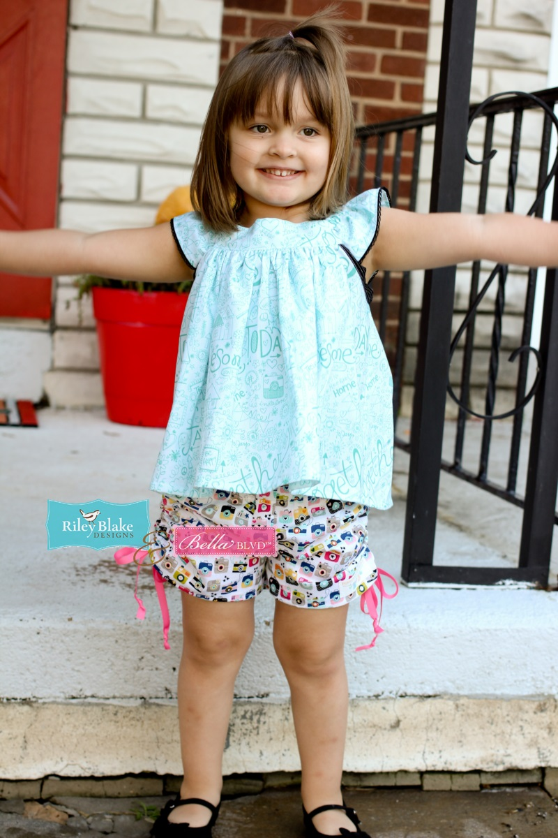 Jen Chesnick- Bella Blvd- Too Cute Shorts and Fly Girl Top1