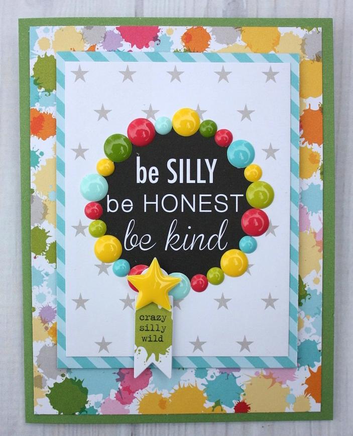 Shellye McDaniel-Enamel Dots_Be Silly Card1