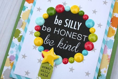 Shellye McDaniel-Enamel Dots_Be Silly Card2