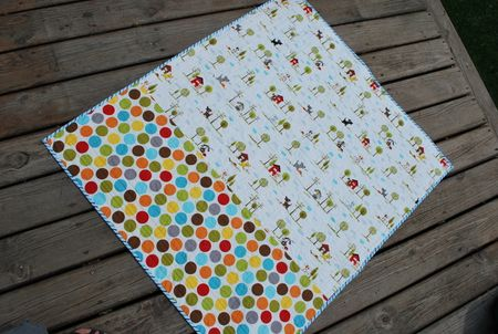 Photo 3 KFrye baby boy quilt back