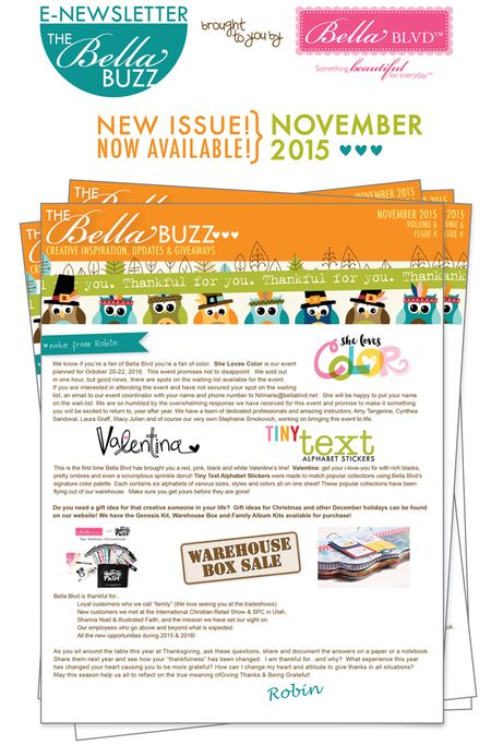 NOVEMBER BELLA BUZZ PROMO