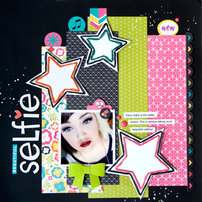 Tegan Skwiat Bright and Brave layout