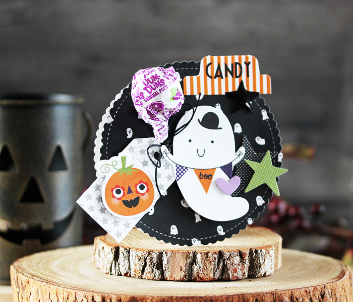 Boo Candy Holder by Laurie Schmidlin