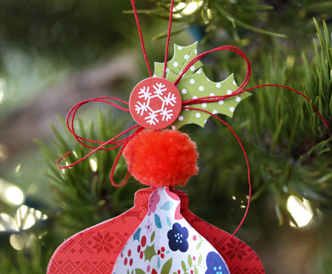 Holly Jolly Ornament (detail) by Laurie Schmidlin