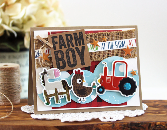 Farm Boy Card by Laurie Schmidlin