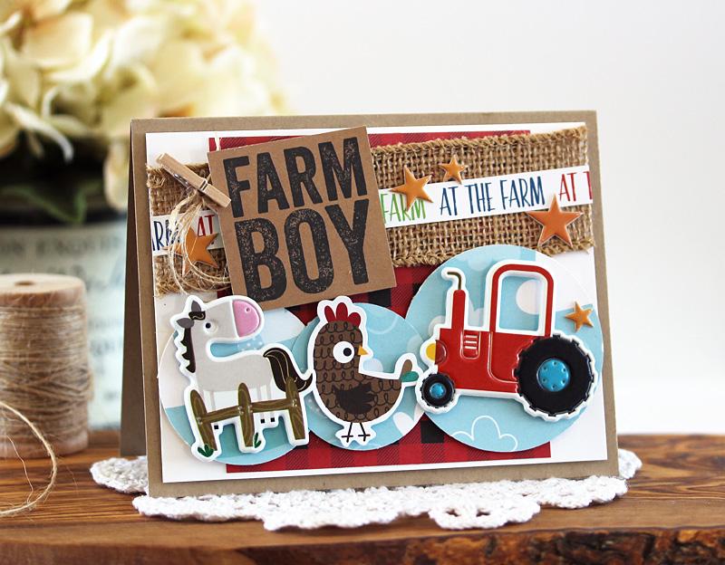 Farm Boy Card by Laurie Schmidlin