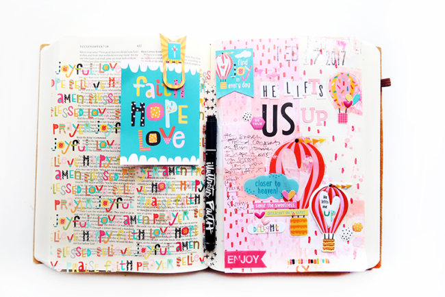 Interleaved bible journaling 2