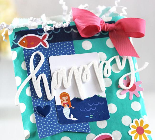 Happy Gift Bag (detail 2) by Laurie Schmidlin