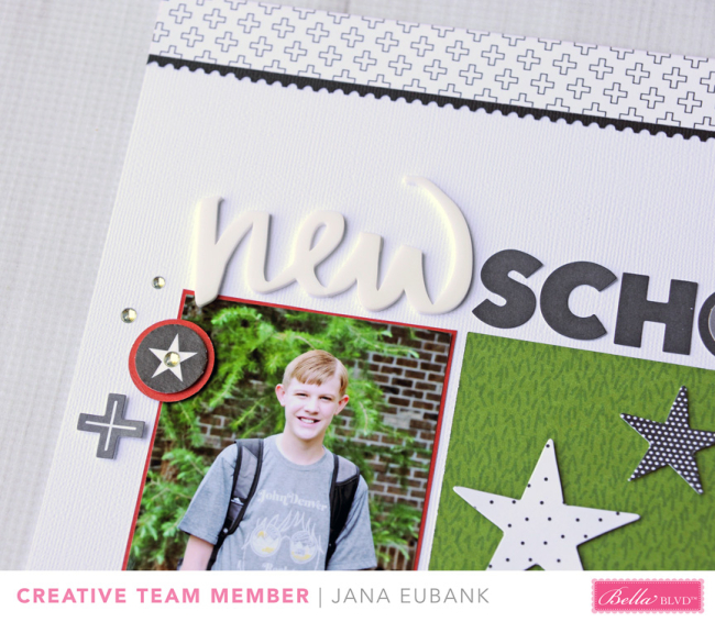 Jana Eubank Bella Blvd New School Year Scrapbook Page 2