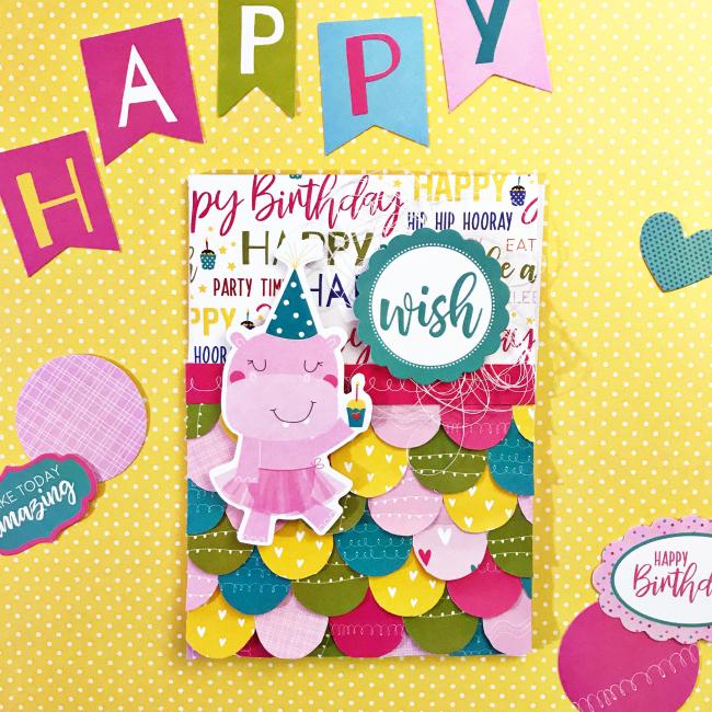 Birthday Wish card by Heather Leopard 1