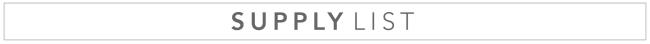 BB Supply list
