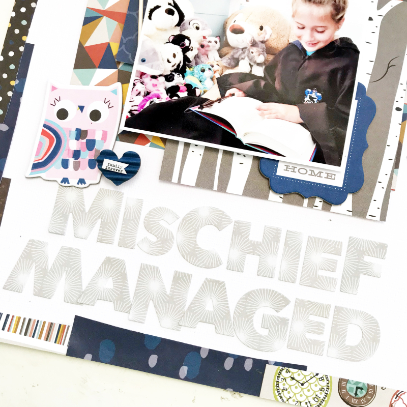 Harry Potter Mischief Managed Scrapbooking Layout by Heather Leopard 4