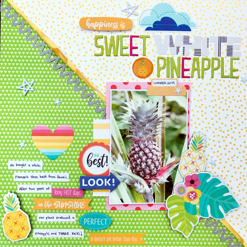 Pineapple scrapbooking layout by Heather Leopard 1
