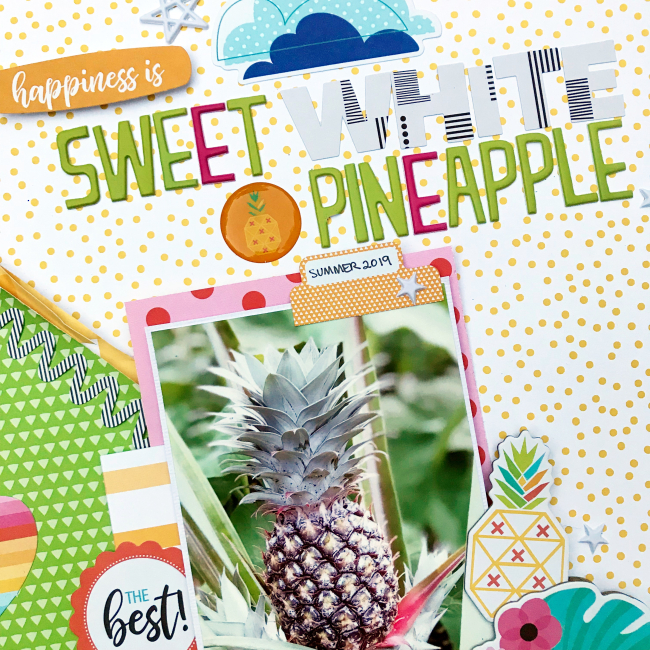 Pineapple scrapbooking layout by Heather Leopard 2