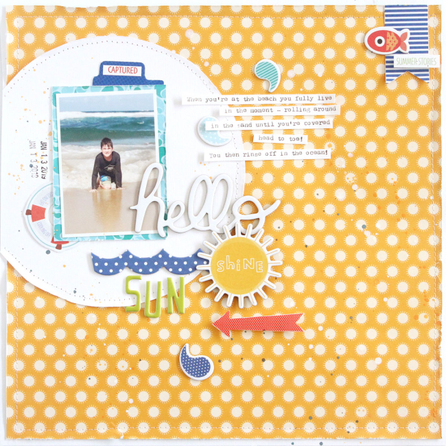 Gail Lindner Hello-Sunshine-Layout