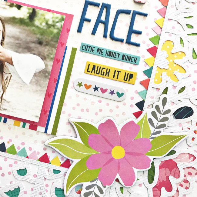 Happy Face Scrapbooking Layout by Heather Leopard_4