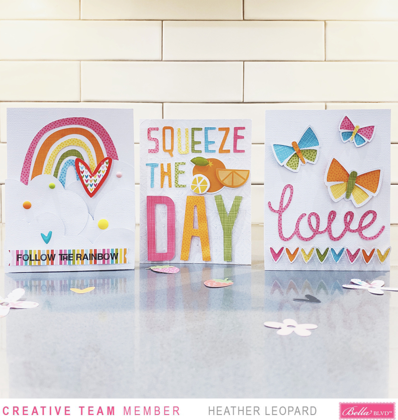 Bella Blvd World Card Making Day Card Trio by Heather Leopard