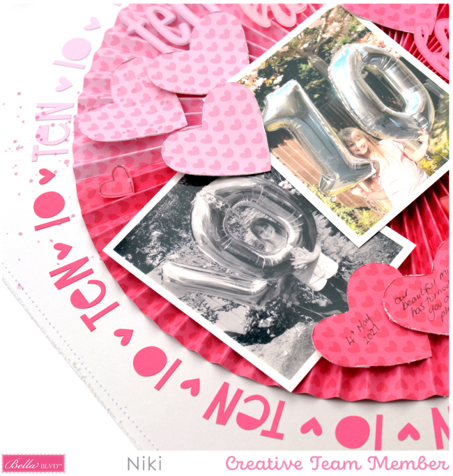 Ten Niki Rowland Bella Blvd Bella Besties Aria Florence Hearts and Ombre Rosette Set
